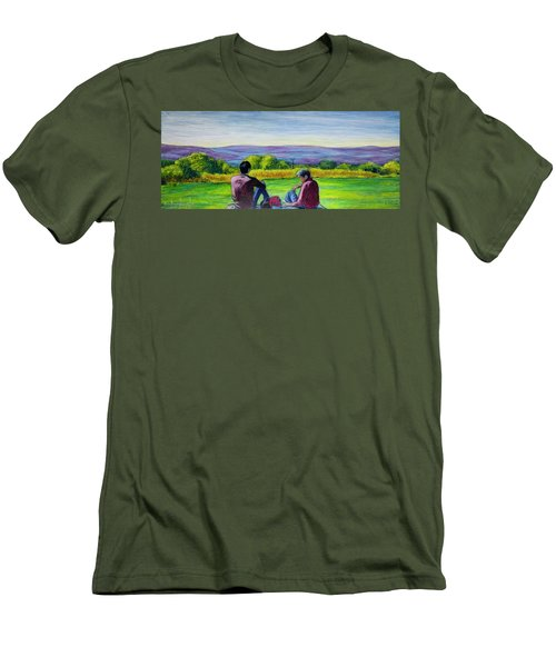 The View Men's T-Shirt (Slim Fit) by Ron Richard Baviello
