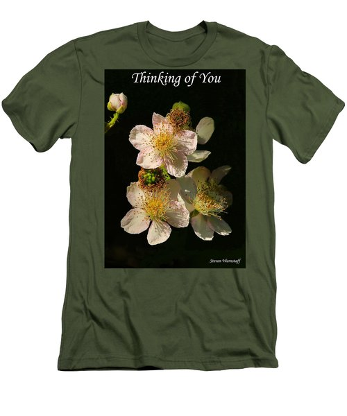 Thinking Of You Men's T-Shirt (Slim Fit) by Steve Warnstaff