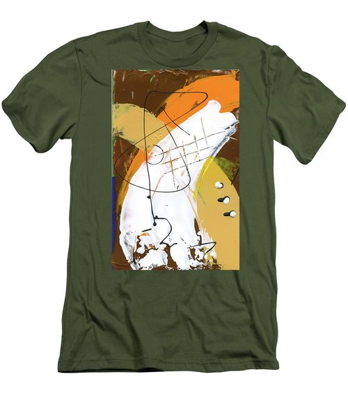 Men's T-Shirt (Slim Fit) featuring the painting Three Color Palette by Michal Mitak Mahgerefteh