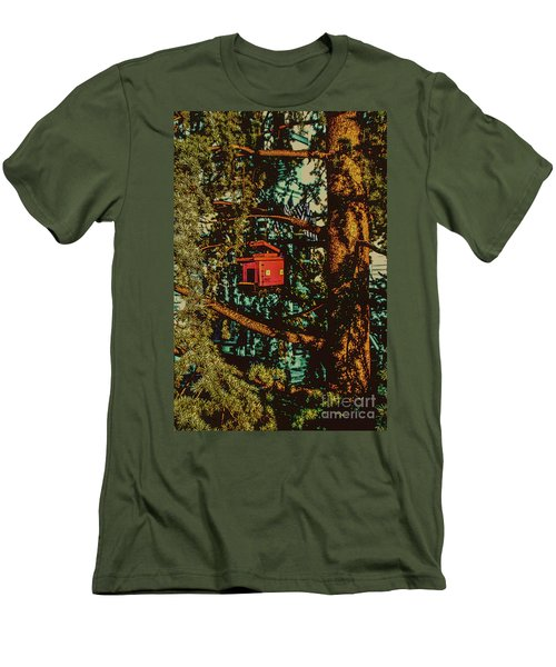 Train Bird House Men's T-Shirt (Athletic Fit)