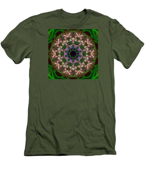 Transition Flower 10 Beats Men's T-Shirt (Slim Fit) by Robert Thalmeier