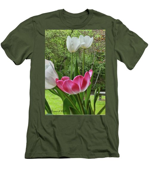 Men's T-Shirt (Slim Fit) featuring the photograph Tulips by Bonnie Willis