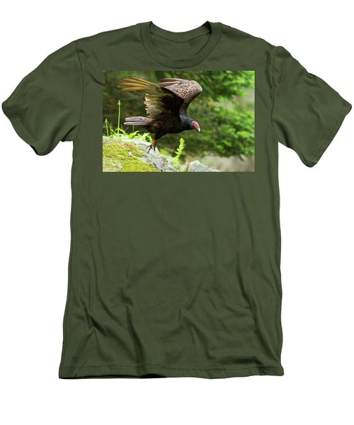 Men's T-Shirt (Slim Fit) featuring the photograph Turkey Vulture by Mircea Costina Photography