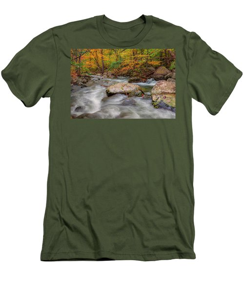 Tye River Men's T-Shirt (Slim Fit) by David Cote