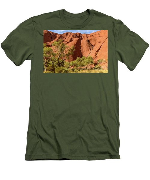 Men's T-Shirt (Athletic Fit) featuring the photograph Uluru 07 by Werner Padarin