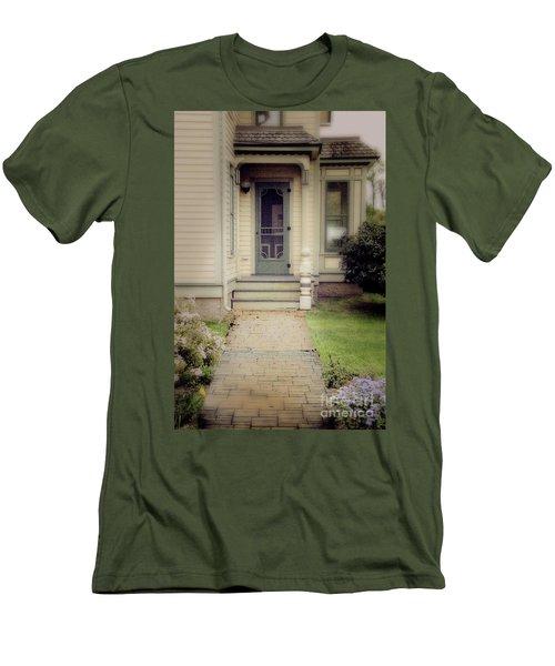 Men's T-Shirt (Slim Fit) featuring the photograph Victorian Porch by Jill Battaglia