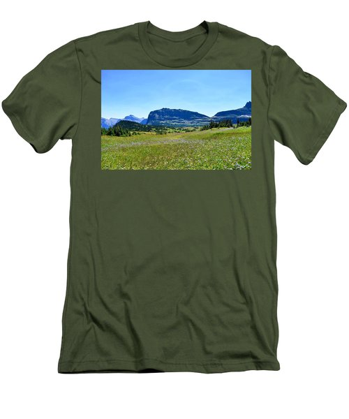 Men's T-Shirt (Slim Fit) featuring the photograph View From Logans Pass by Dacia Doroff