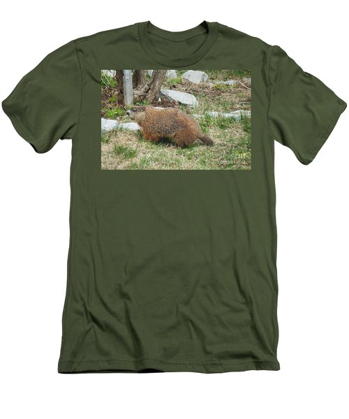 Men's T-Shirt (Slim Fit) featuring the photograph Visitor  by Vicky Tarcau