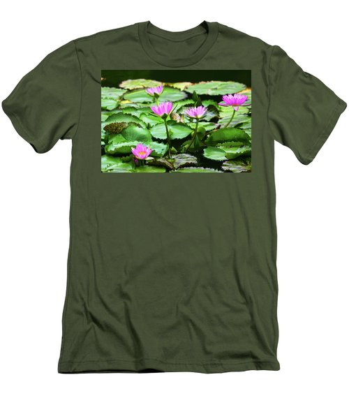 Men's T-Shirt (Slim Fit) featuring the photograph Water Lilies by Anthony Jones