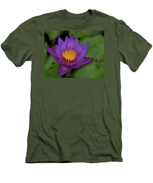 Water Lily Men's T-Shirt (Slim Fit) by Ronda Ryan