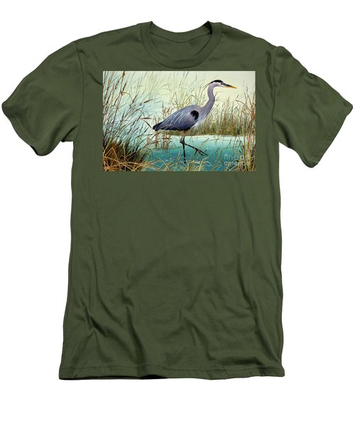 Men's T-Shirt (Slim Fit) featuring the painting Wetland Beauty by James Williamson