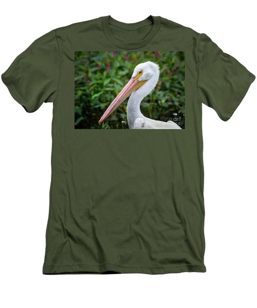 White Pelican Men's T-Shirt (Slim Fit) by Robert Frederick