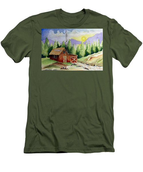 Wilderness Cabin Men's T-Shirt (Athletic Fit)