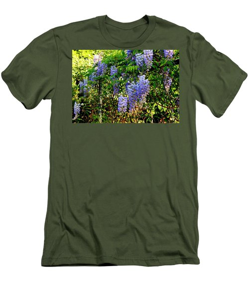Men's T-Shirt (Slim Fit) featuring the photograph Wisteria by Betty-Anne McDonald