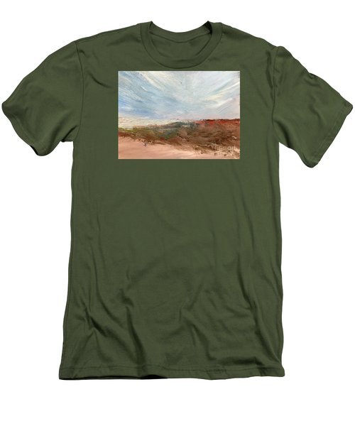 Men's T-Shirt (Slim Fit) featuring the painting Witness by Trilby Cole