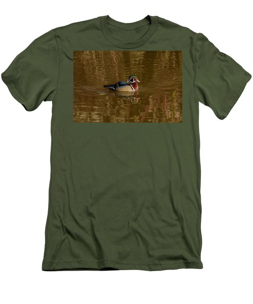 Wood Duck Men's T-Shirt (Slim Fit) by Jerry Cahill
