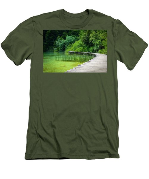 Wooden Path In The Forest Men's T-Shirt (Athletic Fit)