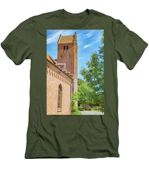 Men's T-Shirt (Slim Fit) featuring the photograph Ystad Monastery In Sweden by Antony McAulay