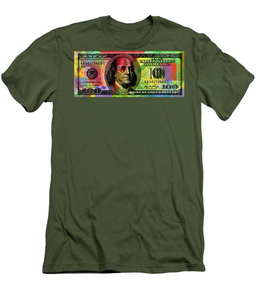 Benjamin Franklin - Full Size $100 Bank Note Men's T-Shirt (Athletic Fit)