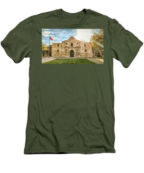10862 The Alamo Men's T-Shirt (Slim Fit) by Pamela Williams