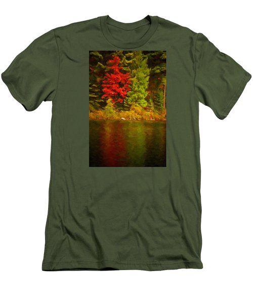 Fall Reflections Men's T-Shirt (Slim Fit) by Andre Faubert