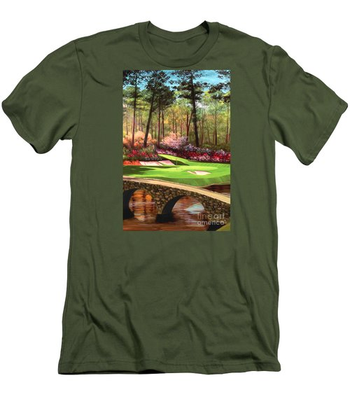 12th Hole At Augusta Ver Men's T-Shirt (Slim Fit) by Tim Gilliland