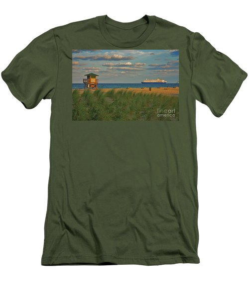 Men's T-Shirt (Slim Fit) featuring the photograph 13- Cruising In Paradise by Joseph Keane