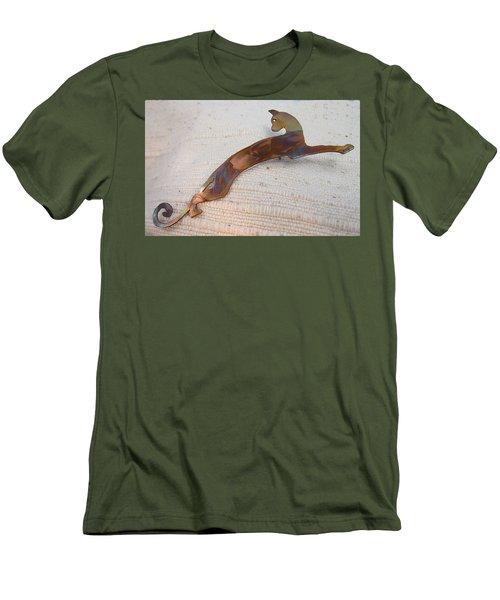 1375 Stealth Cat Men's T-Shirt (Slim Fit) by Dianne Brooks