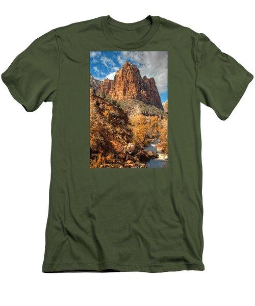 Zion National Park Men's T-Shirt (Slim Fit) by Utah Images