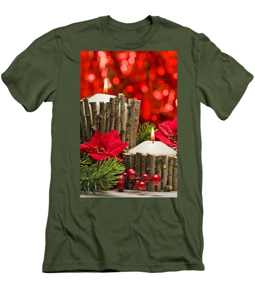 Men's T-Shirt (Slim Fit) featuring the photograph Autumn Candles by Ulrich Schade