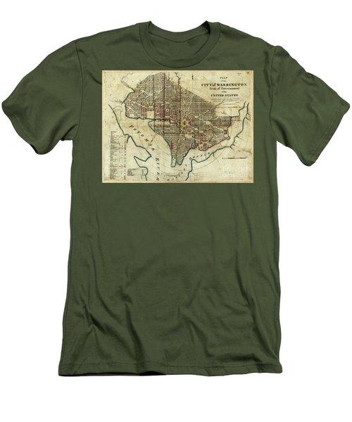 1822 Map Of Washington Dc Men's T-Shirt (Athletic Fit)