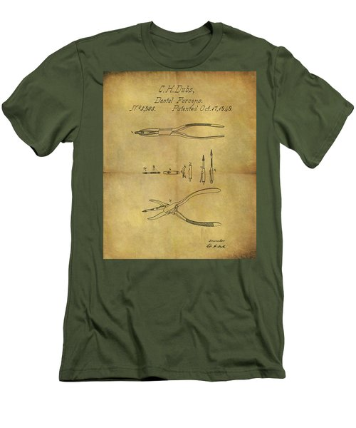 1848 Dental Forceps Patent Men's T-Shirt (Slim Fit) by Dan Sproul