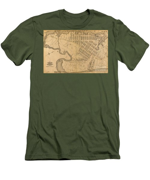 Men's T-Shirt (Athletic Fit) featuring the photograph 1885 Inwood Map  by Cole Thompson