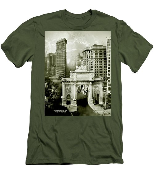 1919 Flatiron Building With The Victory Arch Men's T-Shirt (Athletic Fit)