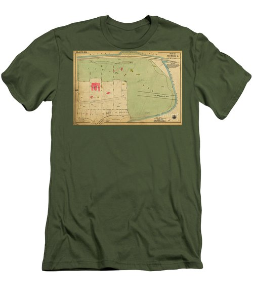 Men's T-Shirt (Athletic Fit) featuring the photograph 1923 Inwood Hill Map  by Cole Thompson