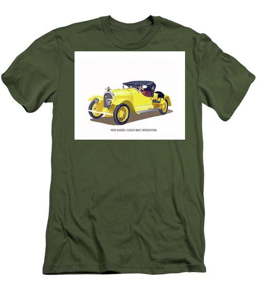 Men's T-Shirt (Slim Fit) featuring the painting 1923 Kissel Kar  Gold Bug Speedster by Jack Pumphrey