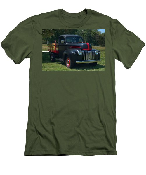 1946 Ford Stake Side Truck Men's T-Shirt (Slim Fit) by Tim McCullough