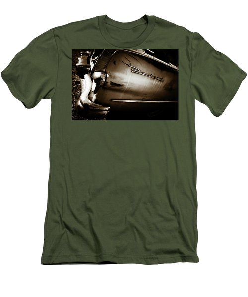 Men's T-Shirt (Slim Fit) featuring the photograph 1950s Packard Tail by Marilyn Hunt