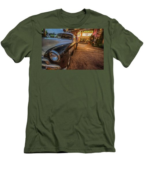 Men's T-Shirt (Slim Fit) featuring the tapestry - textile 1952 Chevy  by Kathy Adams Clark