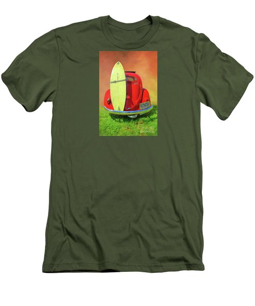 1957 Beetle Oval Men's T-Shirt (Slim Fit) by Marion Johnson