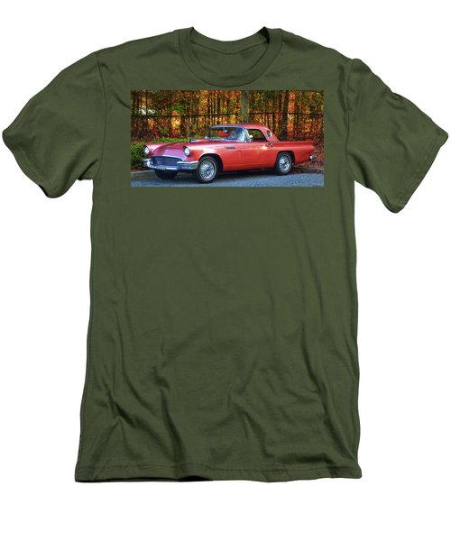 1957 Thunderbird  003 Men's T-Shirt (Slim Fit) by George Bostian