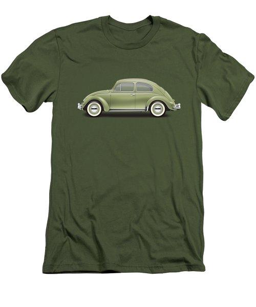 1957 Volkswagen Deluxe Sedan - Diamond Green Men's T-Shirt (Slim Fit) by Ed Jackson