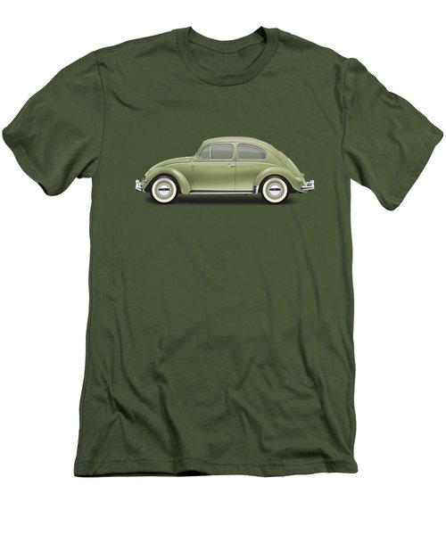 1957 Volkswagen Deluxe Sedan - Diamond Green Men's T-Shirt (Slim Fit)