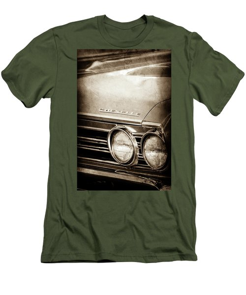 Men's T-Shirt (Slim Fit) featuring the photograph 1967 Chevrolet Chevelle Ss Super Sport Emblem -0413s by Jill Reger