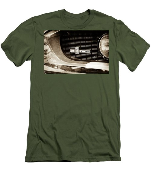 Men's T-Shirt (Slim Fit) featuring the photograph 1967 Ford Gt 350 Shelby Clone Grille Emblem -0759s by Jill Reger