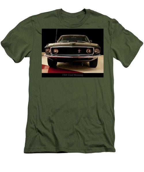Men's T-Shirt (Slim Fit) featuring the digital art 1969 Ford Mustang by Chris Flees