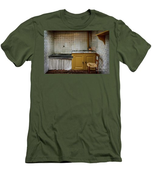 Men's T-Shirt (Slim Fit) featuring the photograph 19th Century Kitchen In Amsterdam by RicardMN Photography