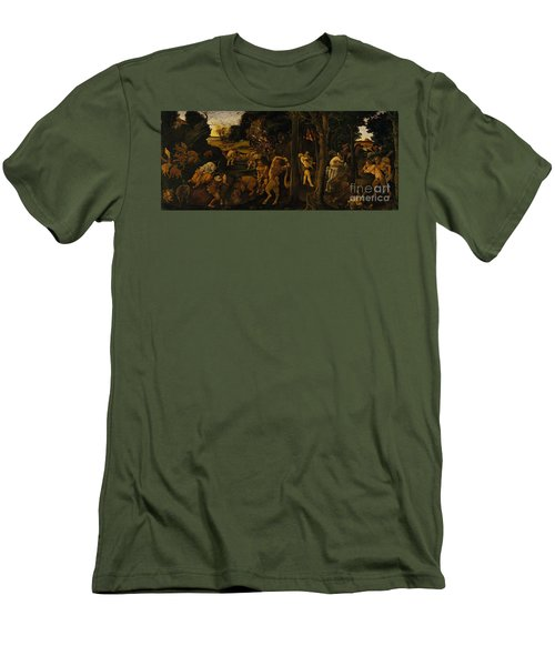 A Hunting Scene Men's T-Shirt (Athletic Fit)
