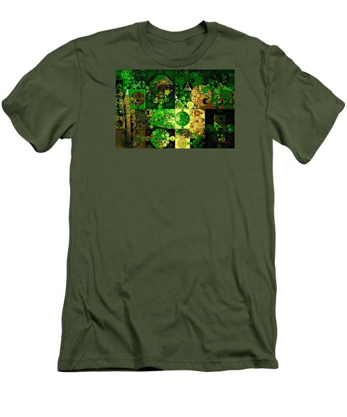 Men's T-Shirt (Slim Fit) featuring the digital art Abstract Painting - Dell by Vitaliy Gladkiy