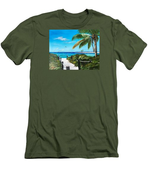 Access To The Beach Men's T-Shirt (Athletic Fit)